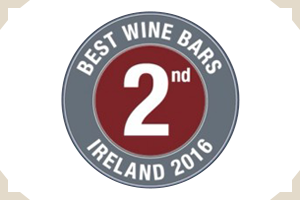 best-wine-bar-ireland-award-second-place-2016