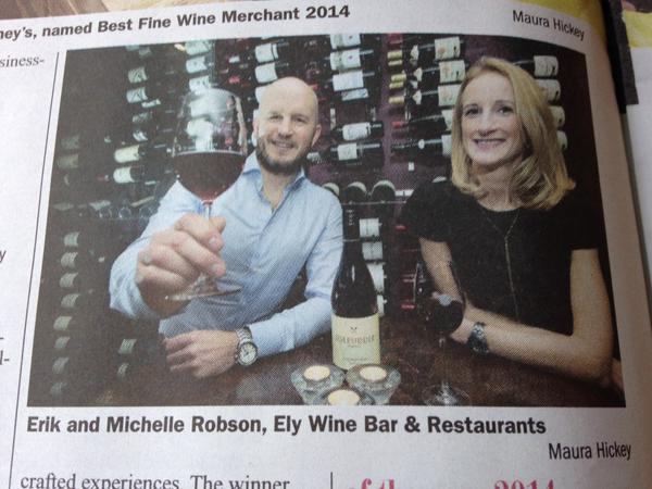 Tomas Clancy, Sunday Business Post: Best Wine Bar Style in Ireland