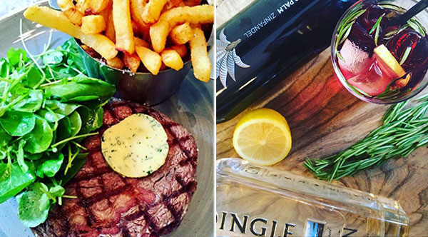 Enjoy Organic Rib-eye Steak at ely wine bar