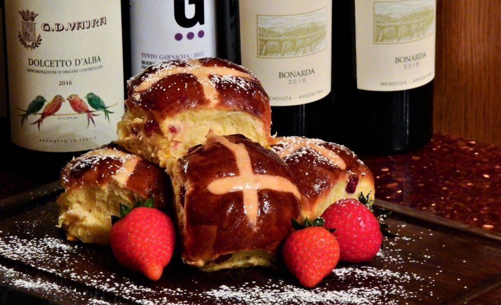 We thought you might like to do some baking in the days leading up to Easter Weekend. Our pastry chef, Yamila, decided to share her go-to hot cross buns recipe with us.